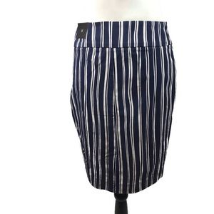 RW&Co. Lightweight Blue and White Striped Skirt